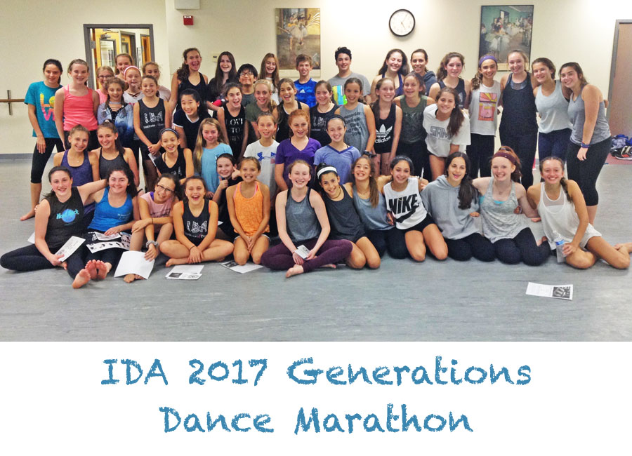 IDA, Institute of Dance Artistry thanks the participants of the 2017 dance marathon to fund the Generations Dance Concert.