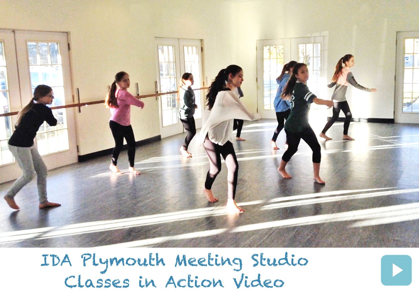 IDA, Institute of Dance Artistry Children's Plymouth Meeting PA studio dance classes in action. This IDA studio also services Whitemarsh Township, Conshohocken, Lafayette Hill, and Whitpain Township.