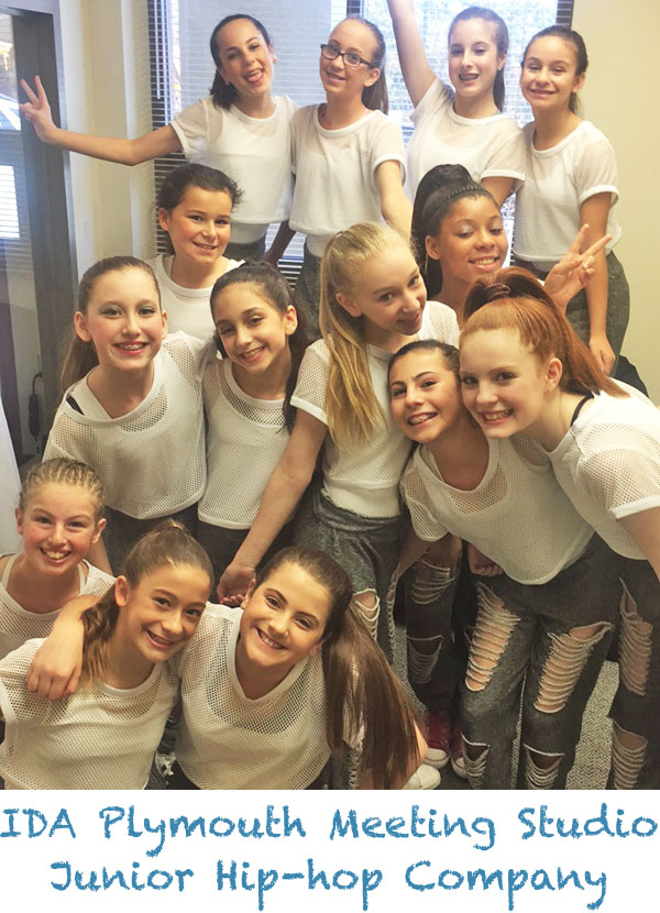 IDA, Institute of Dance Artistry Children's Plymouth Meeting PA studio provides performance opportunities including our Jr. Hip-hop company. This IDA studio also services Whitemarsh Township, Conshohocken, Lafayette Hill, and Whitpain Township.