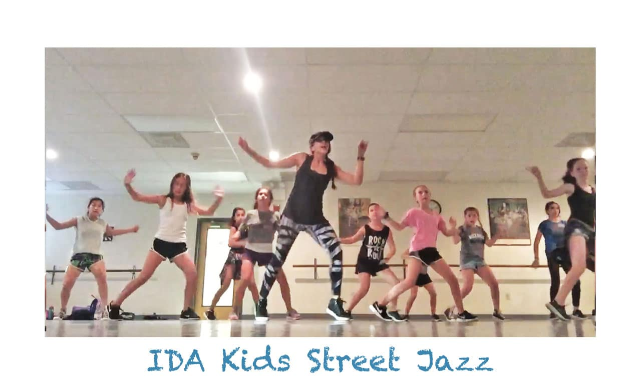 IDA, Institute of Dance Artistry Kids Street Jazz Class, Fort Washington PA and Whitemarsh Township PA.