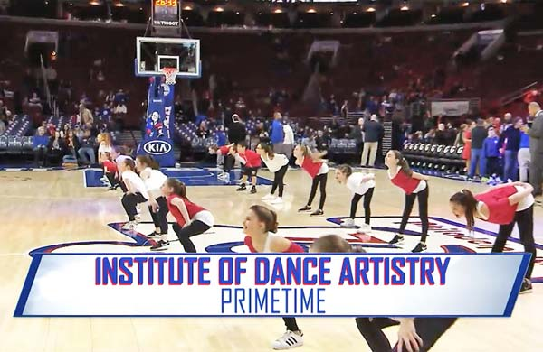 IDA, Institute of Dance Artistry, located in Fort Washington and Plymouth Meeting PA, performed at a Philadelphia Sixers game.